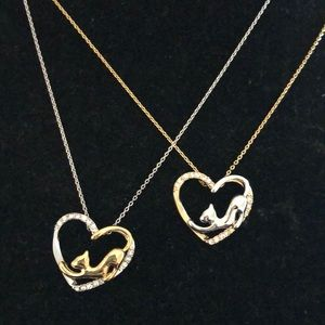 Jewelry - Cat lover necklace with heart ❤️